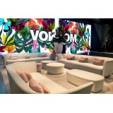 SUAVE Modular Sofa Three Places in Outdoor Fabric at the Milan Furniture Fair by VONDOM