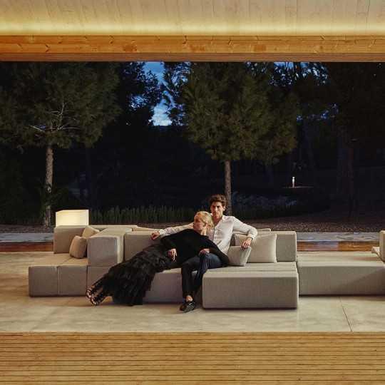 TABLET SOFA Outdoor Modular Fabric Armchair - VONDOM