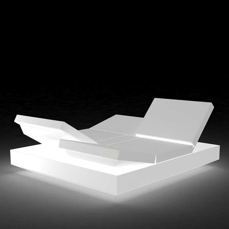 VELA DAYBED Carré Inclinable x4 Lumineux Blanc - VONDOM
