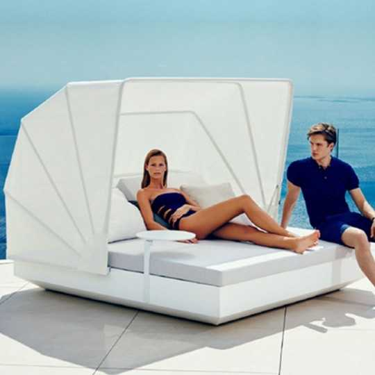 VELA DAYBED Matt Square Reclining x4 Sunroof - VONDOM