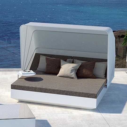VELA DAYBED Carré Inclinable x4 Laqué Parasol - VONDOM