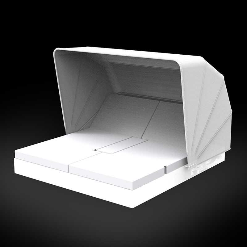 VELA DAYBED Carré Inclinable x4 Lumineux Blanc Parasol - VONDOM