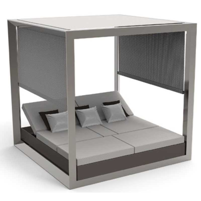 VELA DAYBED Matt Square Reclining x4 Canopy with Blinds - VONDOM
