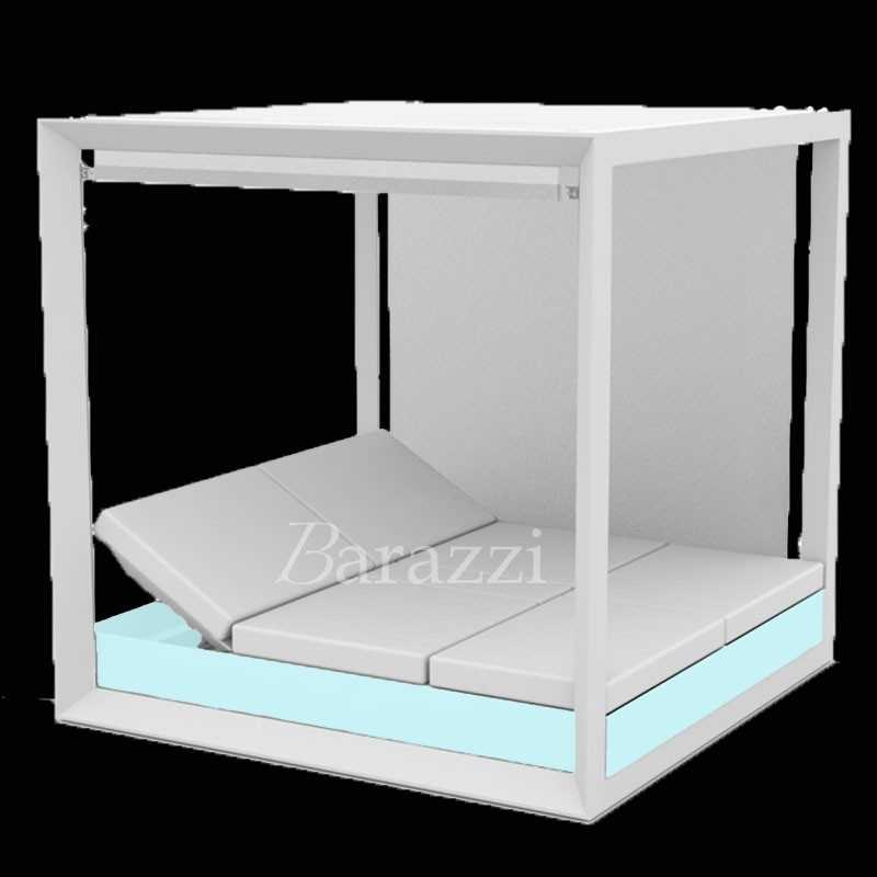VELA DAYBED RGB LED Light Square Reclining x4 Canopy with Blinds - VONDOM