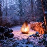 Brasero Outdoor Dewdrop M Glowbus Snow