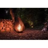 Outdoor Fireplace Wood Dewdrop M Glowbus Terrace