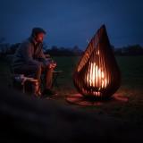 Outdoor Fireplace Dewdrop M Glowbus Steel