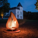 Outdoor Fireplace Design Dewdrop XL Glowbus