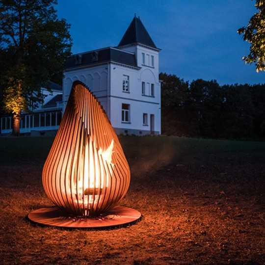 Outdoor Fireplace Design Dewdrop XL Glowbus