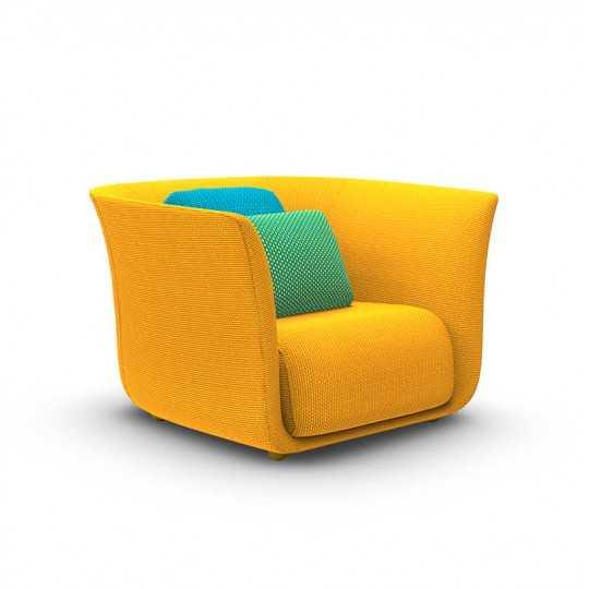 SUAVE Lounge Chair - Fauteuil Extérieur Tissu - VONDOM