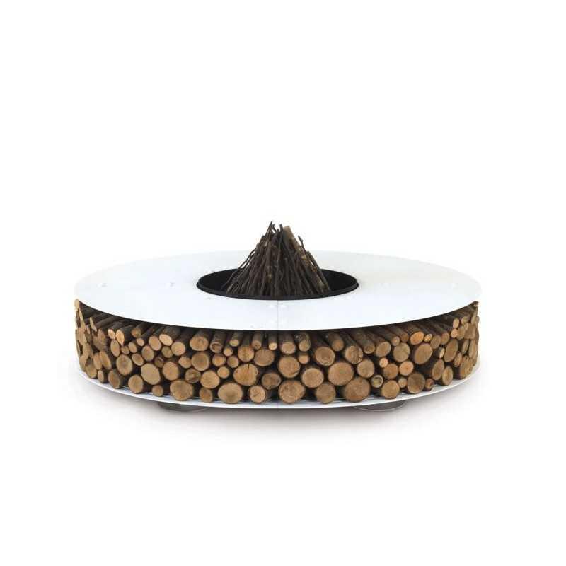 ZERO 150 Outdoor White Fire Pit ideal for Bar Restaurant Terrace Garden