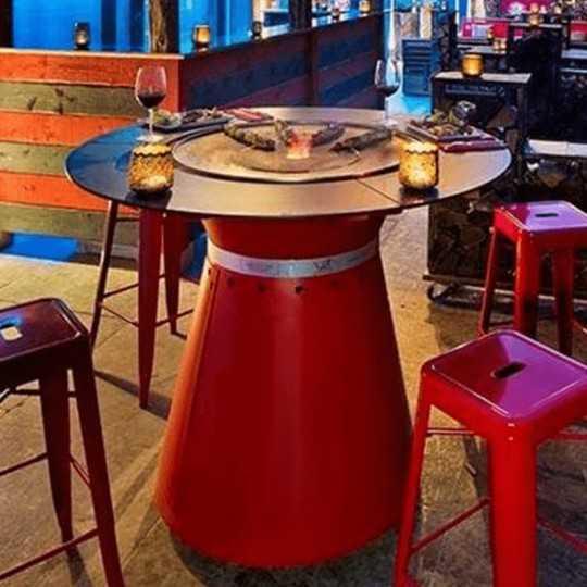 FUSION HIGH GAZ - High Table Gas Brazier Plancha 6 place settings - VULX 2