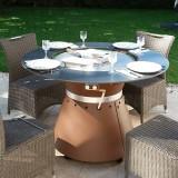FUSION MEDIUM GAZ - Gas Brazier Table Plancha 8 place settings - VULX