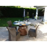 Decoration restaurant made in france and original table brazier gas barbecue of VULX