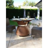 Fusion brazier table for restaurant and bar terrace by VULX