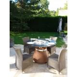 Table terrace of restaurant brazier plancha FUSION MEDIUM GAZ of VULX
