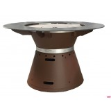 FUSION MEDIUM WOOD Outdoor table Barbecue Brazier Barbecue 8 place settings VULX