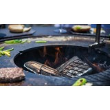 Fireplace of the two-in-one table bbq and brazier FUSION of VULX