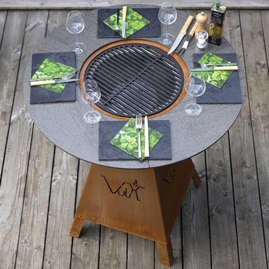 MAGMA HIGH WOOD High Table Outdoor Brazier Barbecue 4 seats
