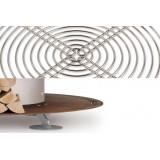 Outdoor Heating Firepit by AK47 Design - ZERO 300 White