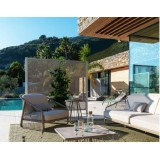 Nest SOFA Linear sofa 3 places in modular outdoor fabric by CORO Outdoor