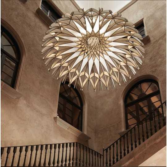 Dome 60/01 - LED Pendant Lamp In Beech Veneer