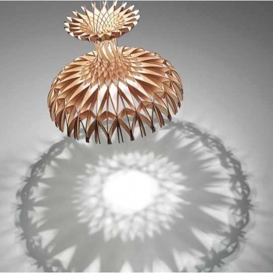 Dome 60/02 - LED Pendant Lamp In Beech Veneer