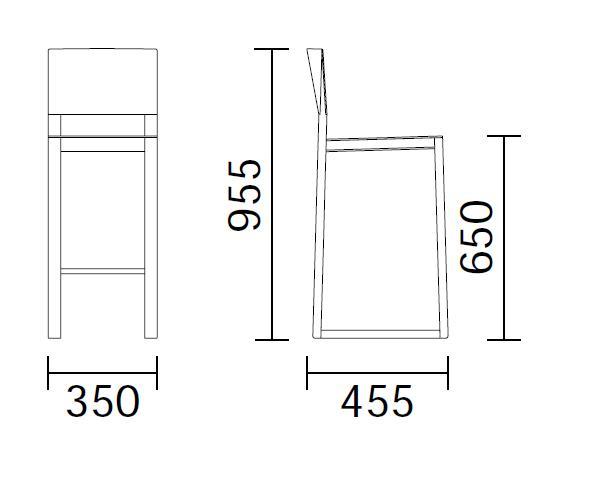 tabouret de bar avec dossier brera pedrali. Black Bedroom Furniture Sets. Home Design Ideas